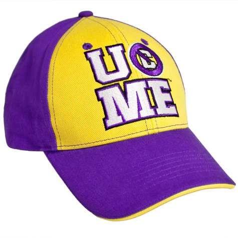 save off 4a322 602fd WWE John Cena Persevere Baseball Cap Purple Yellow