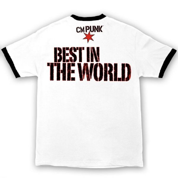 05a83712b CM Punk Best In The World Authentic WWE T-Shirt White